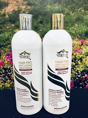 Eternal Hair Pro Anti Aging Treatment Shampoo and Conditioner With Steam Cells