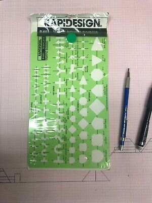 Traffic Accident R-131B Berol Rapidesign Template Pocket Size