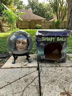 Rare Spirit Halloween Gemmy Spirit Ball Animatronic Ghoul Head Prop W/ Box