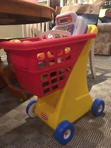 Little Tikes grocery cart set
