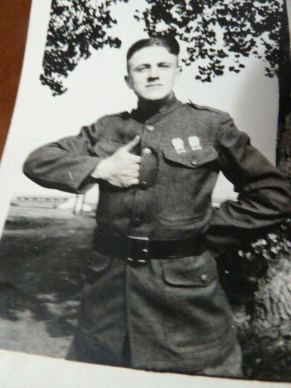 Antique Photo WWI US Dress Military Uniform Soldier