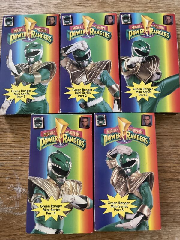 VHS Lot 6 1-5 MIGHTY MORPHIN POWER RANGERS Green Ranger Mini-Series 1 2 3 4 5