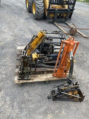 Stanley Pd-45 Hydraulic Post Driver 2 Drivers And 2 Pullers Hydraulic Pump