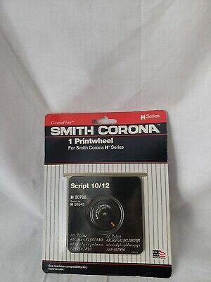 Vintage Smith Corona Typewriter Print Wheel H Series Script 1012