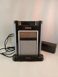 iHOME DOCK FOR IPOD IH4B Expanded EXB Bass Sound Black Alarm Clock W/Power Cord