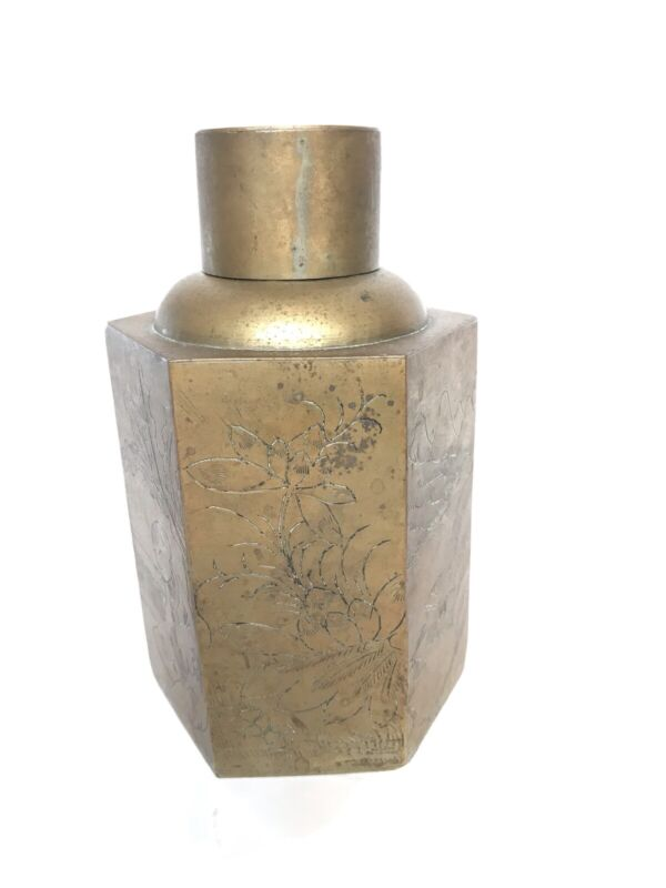 Antique Chinese Copper/Brass Tea Caddy