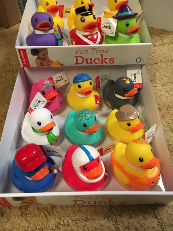 INFANTINO FUN TIME RUBBER DUCKS BRAND NEW COMPLETE WITH TAGS🦆