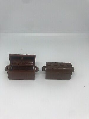 LEGO LOT OF 2 BROWN TREASURE CHEST PIECES PIRATE 2 Piece Treasure Chest