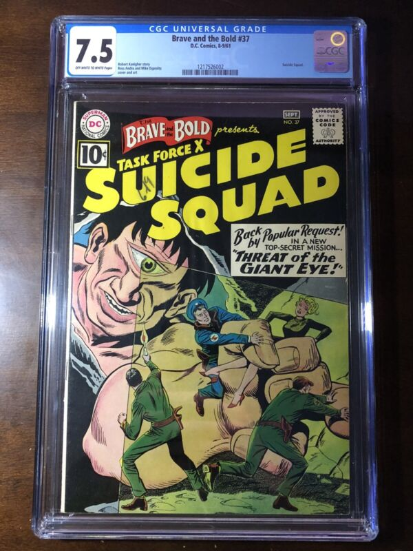 Brave and the Bold #37 (1961) - Suicide Squad!!! - CGC 7.5!!