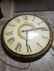 Vintage United Clock Corp Large Pocket Watch Style Clock Model 47 free shipping