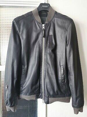 All Saints Men's Leather Jacket Size M