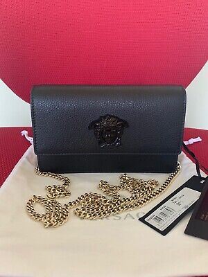 Versace $825 Medusa Palazzo Evening Bag with Chain.! NWT.!!
