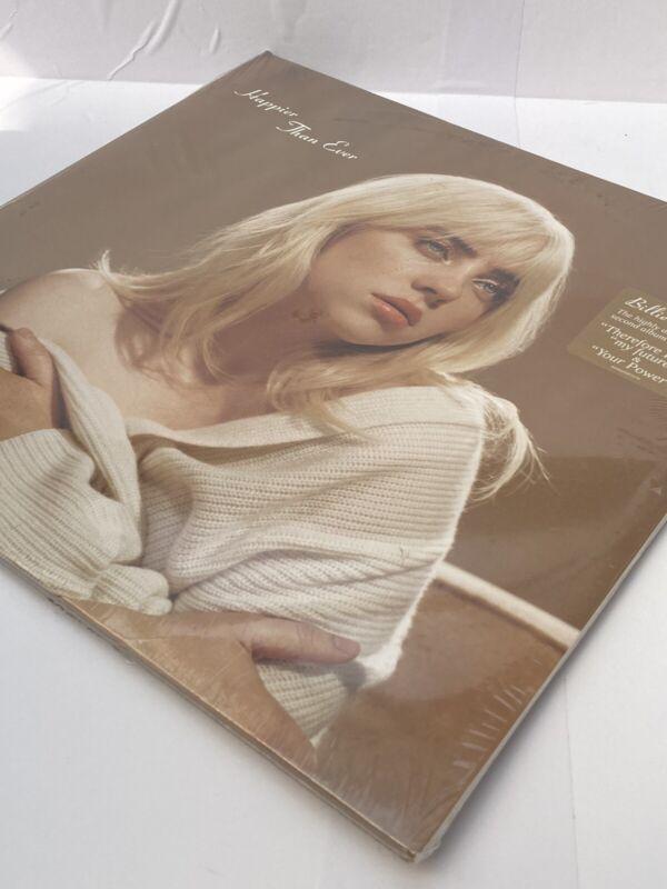 Billie Eilish - Happier Than Ever Target Exclusive Light Blue 2 Vinyl LP+Poster