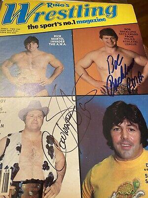 Bob Backlund signed autographed Rings Wrestling magazine WWF Wrestling