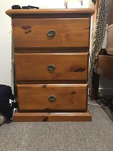 Wooden bed and two bedside tables Cannon Hill Brisbane South East Preview
