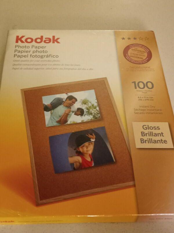 "Kodak Gloss 8.5"" x 11"" Photo Paper, 100 Sheets Sealed Package"
