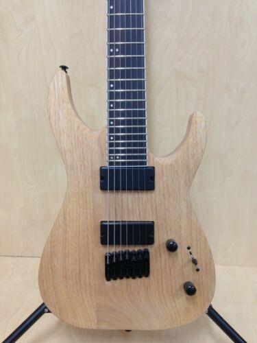 Haze Natural Oil Solid Mahogany Body 7-String Electric Guitar – HS E007NOIL+Bag