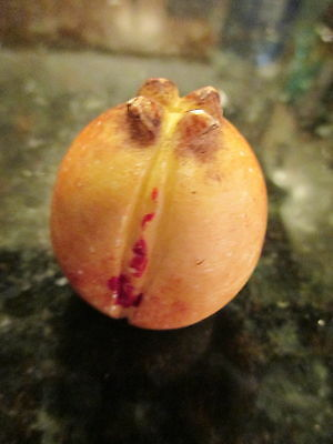 Early Antique Italian Alabaster Stone Fruit Miniature Pomegranate Rare Piece