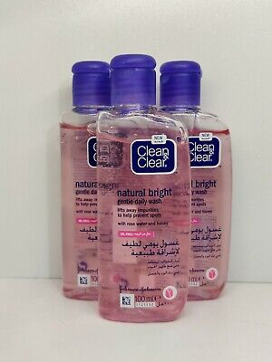 3 x CLEAN & CLEAR GENTLE DAILY FACE WASH TARGETS SPOTS & ACNE SENSITIVE SKIN NEW