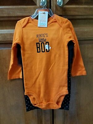 CARTERS JUST ONE YOU CUTE HALLOWEEN 2 PIECE OUTFIT SET GIRL 12 Months](Cute Girl Halloween Outfits)
