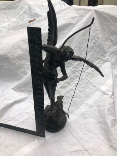 Bronze Sculpture Vintage Cupid, signed