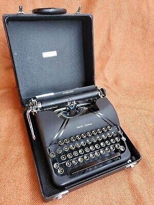 Vtg 40'S Smith Corona Sterling Floating Typewriter In Case Folk Writer Art Deco