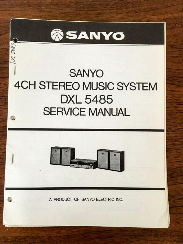 Sanyo DXL 5485 Stereo Service Manual *Original*