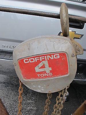 4 Ton Duff Norton Coffing Hoist Chain Fall 10 Foot Lift