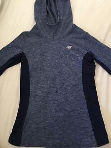 New Balance blue workout sweater