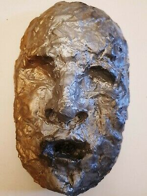 Antique Vintage Papier Mache Life Size Head Mask ](Halloween Papier Mache Masks)