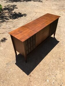record player console with speakers vintage