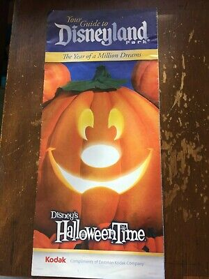 Disneyland DLR Fold Out Information Map Guide Year of A Million Dreams Halloween (Halloween Information)