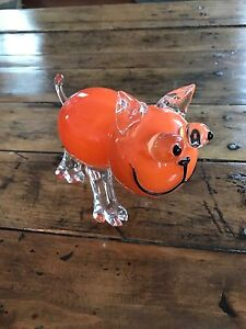 Hand Blown Glass Cat