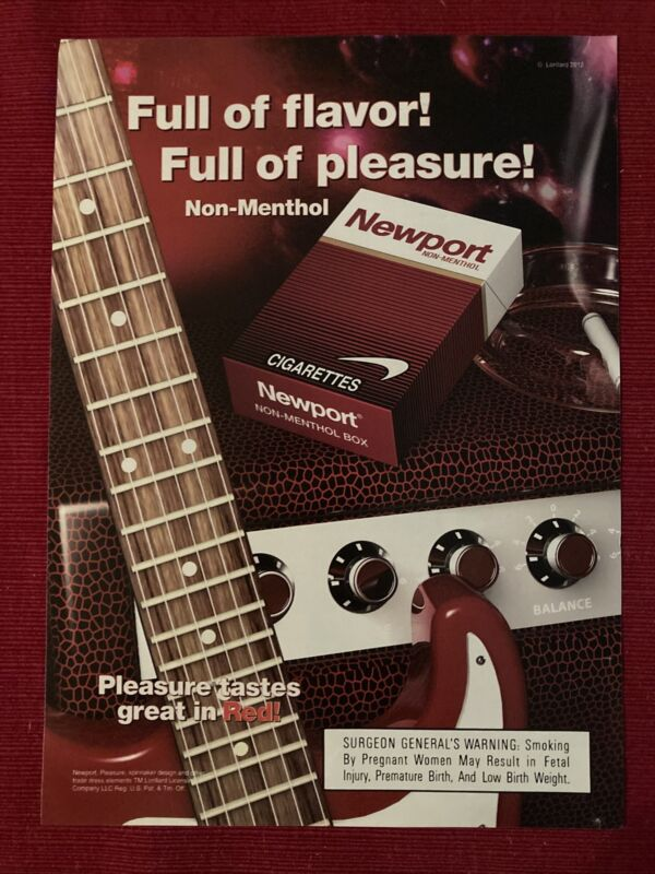 Newport Red Cigarettes Guitar And Amp 2009 Ad/Poster Promo Art Ad