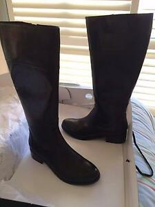 Ladies Black Leather Boots Size 6 - Diana Ferrari The Junction Newcastle Area Preview