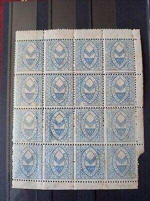 Gb Keble College Oxford Stamps Unused Block Of 16