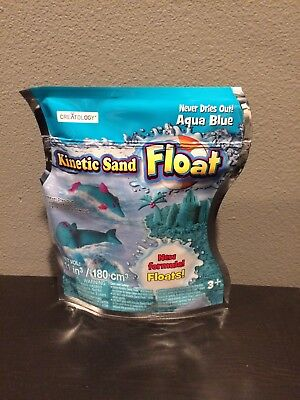 NEW KINETIC SAND, AQUA BLUE, Resealable Bag, Never Dries Out! Magically Floats!
