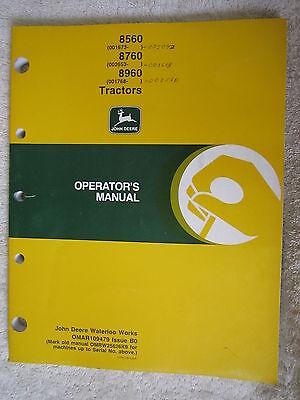 John Deere 8560 8760 8960 Tractor Operators Manual