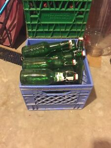 Grolsch flip top beer bottles