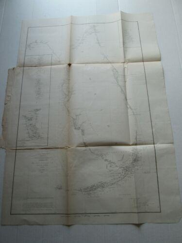 ONE (1) 1848-1861 COAST SURVEY,  SKETCH-F, NO. VI, COAST OF FLORIDA