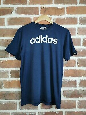 Vintage ADIDAS Graphic T-Shirt Top Tee Navy Blue Sportswear | Medium M