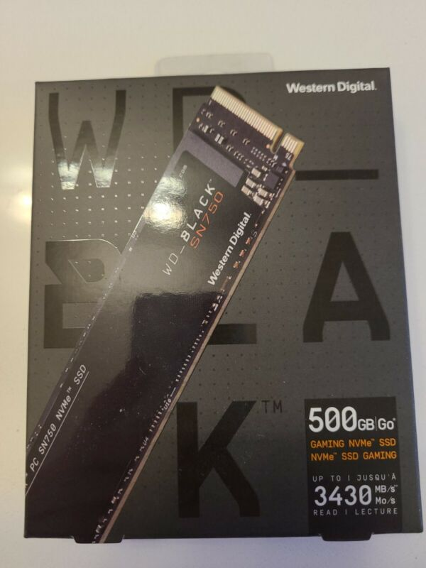 Western Digital WD Black SN750 500 GB Solid State Drive