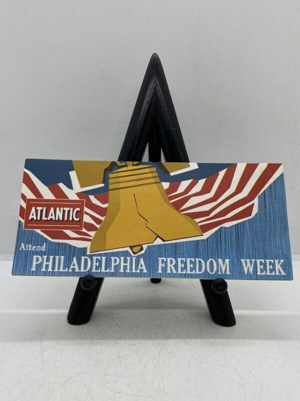 Gas & Oil Vintage 1962 Atlantic Gasoline Philadelphia Freedom Week Advertising