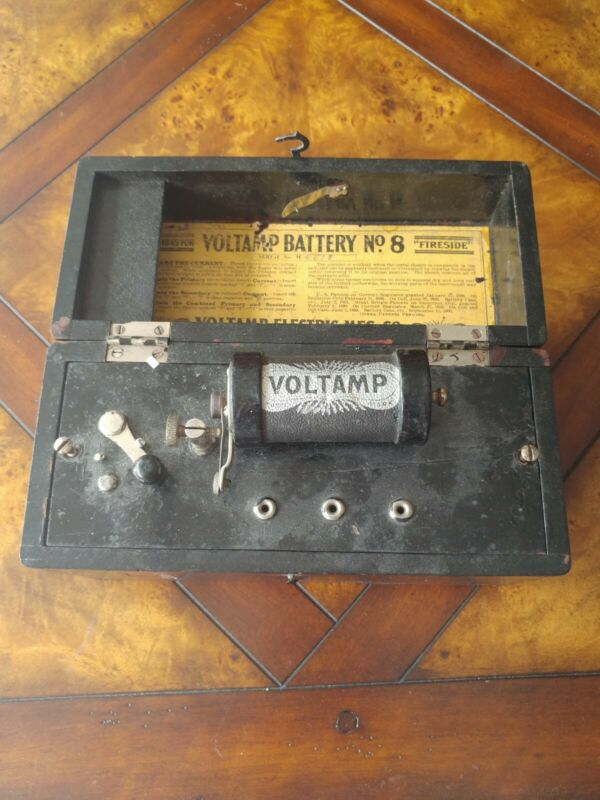 """Voltamp Battery No. 8 """"Fireside"""" Antique Electrotherapy Device Baltimore MD 1900"""