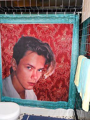Original River Phoenix Portrait Shower Curtain  Gay Kehinde Wiley Inspired