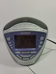 Sony ICF-CD853V CD/AM/FM Radio Clock Dream Machine Tested/Working