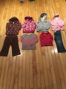 Girls size 2 lot (hoodies, pants, long sleeve shirt)