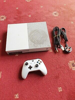 Microsoft Xbox One S 500GB White Console - Model 1681 - (DIRTY CASING)