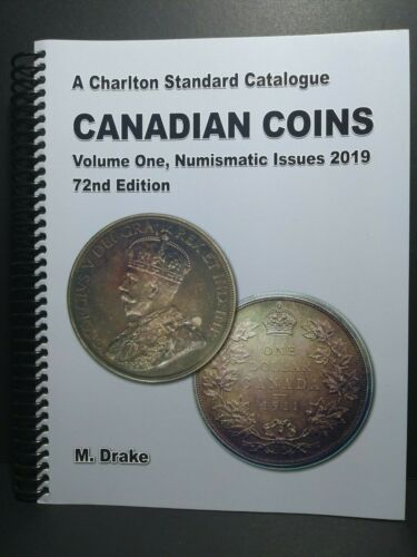 Canadian Coins Volume One 1 2019 Charlton Catalogue 72nd Edition NEW