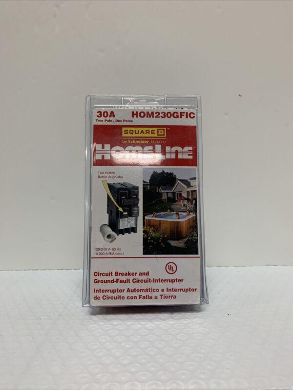 Square D HomeLine Circuit Breaker Ground-Fault Circuit Interrupter  #HOM230GFIC